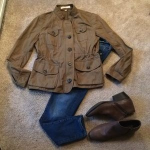 LOFT olive mid-weight Utility jacket size small